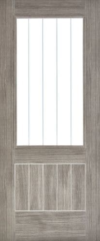 Mexicano Glazed Light Grey Laminate Internal Door