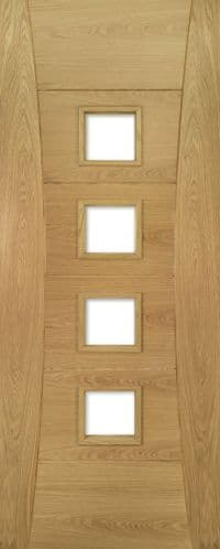 Pamplona  Glazed Oak Internal Door