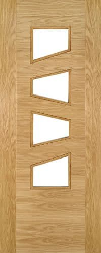 Saville Oak 4 LS Glazed Internal Door