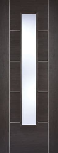 Vancouver Glazed Dark Grey Laminate Internal Door