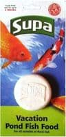 2 x Supa Pond Holiday / Vacation Fish Food 50g for Coldwater Pond Fish