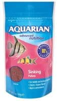 Aquarian Slow Sinking Pellet 1136g for Tropical fish (4 x 284g)