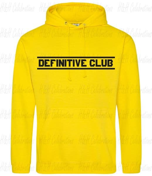Adults Unisex Definitive Club Pullover Hoodie