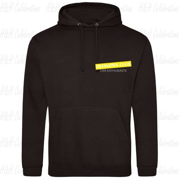 Adults Unisex Definitive Club Pullover Hoodie With Highlight Logo