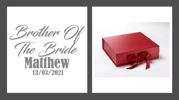 Brother Of The Bride Large Luxury Personalised Gift Box