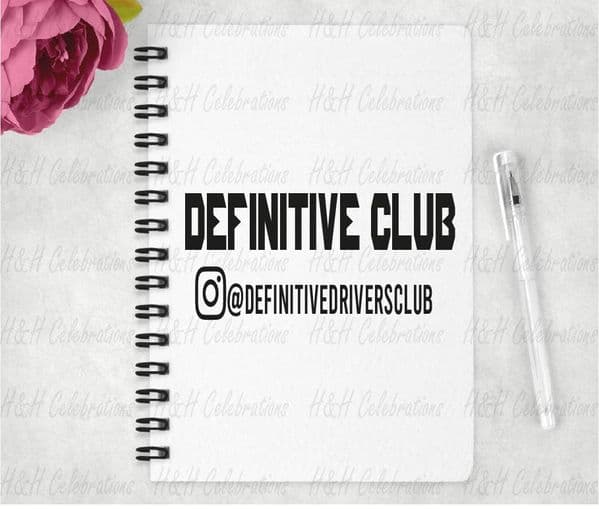 Definitive Club A5 Lined Notebook