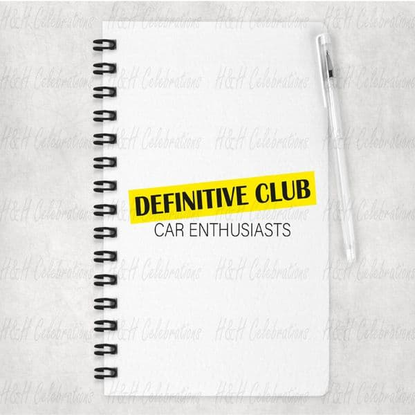 Definitive Club Highlight Logo A5 Lined Notebook