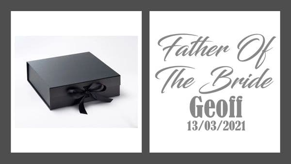 Father Of The Bride Large Luxury Personalised Gift Box