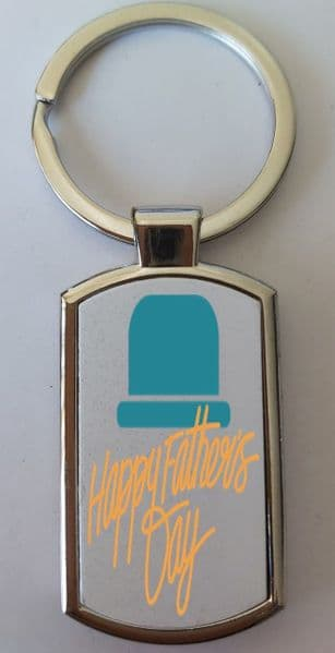 Father's Day Metal Rectangle Key Ring Design 10