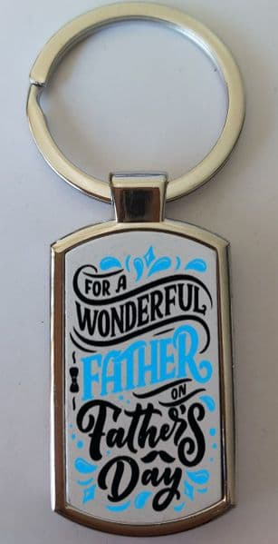Father's Day Metal Rectangle Key Ring Design 21