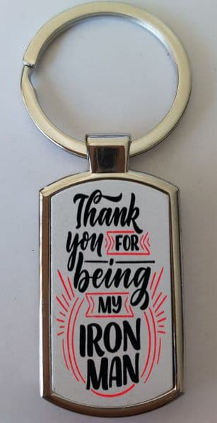 Father's Day Metal Rectangle Key Ring Design 27