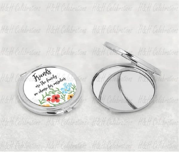 Friends Floral Compact Mirror