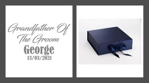 Grandfather Of The Groom Large Luxury Personalised Gift Box