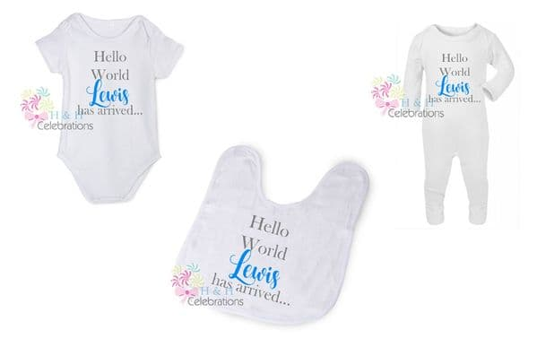 Hello World Personalised Gift Set