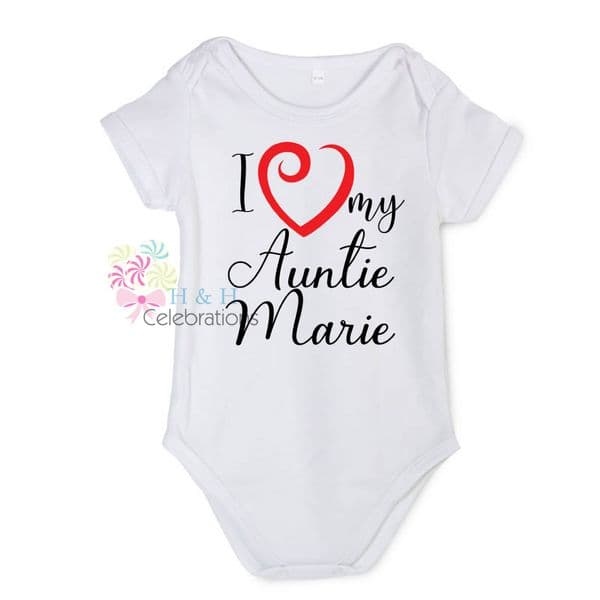 I Heart My... Personalised Baby Vest