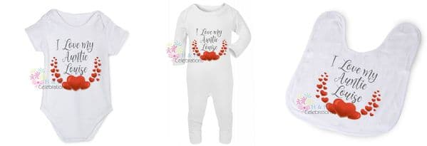 I Love My... Hearts Flourish Personalised Gift Set