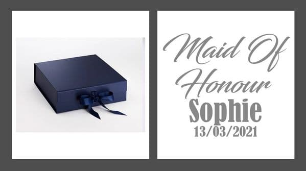 Maid Of Honour Large Luxury Personalised Gift Box