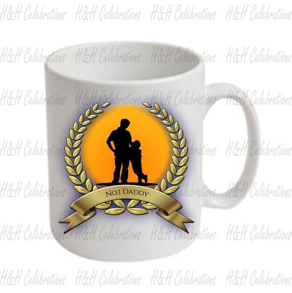 Male And Boy Laurel Personalised Mug