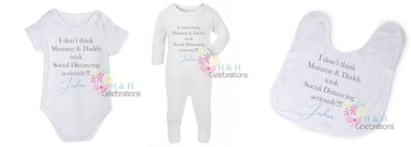 Mummy, Daddy Social Distancing Personalised Gift Set