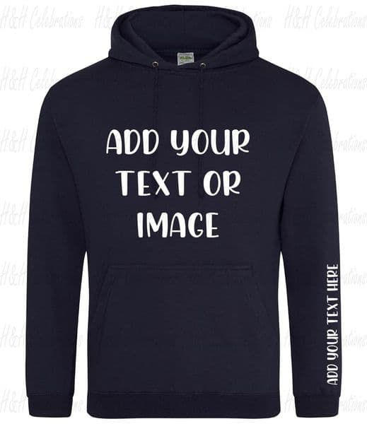 New French Navy Adults Personalised Hoodie