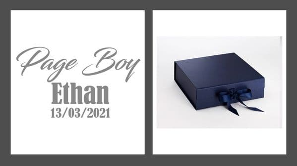 Page Boy Large Luxury Personalised Gift Box