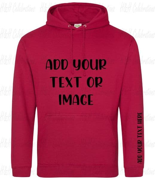 Red Hot Chilli Adults Personalised Hoodie