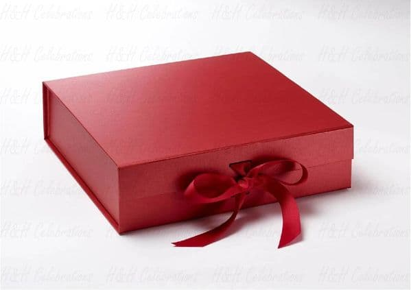 Red Luxury Personalised Gift Box