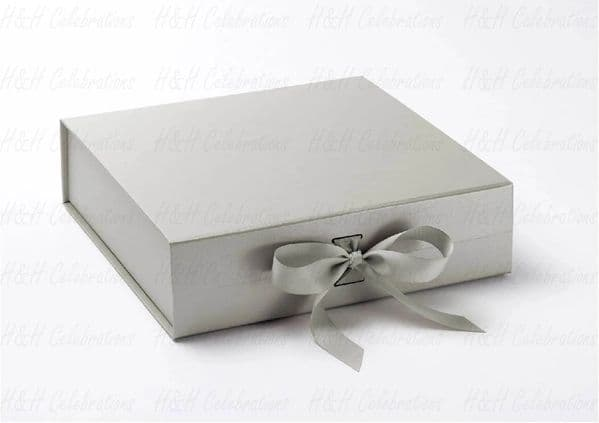 Silver Luxury Personalised Gift Box