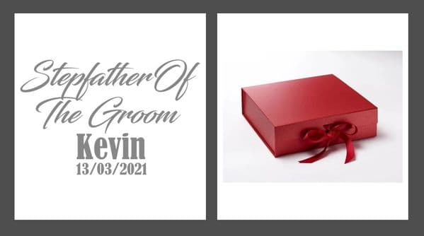 Step Father Of The Groom Large Luxury Personalised Gift Box