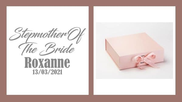 Step Mother Of The Bride Large Luxury Personalised Gift Box