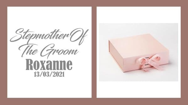 Step Mother of The Groom Large Luxury Personalised Gift Box