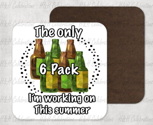 Summer 6 Pack MDF Coaster