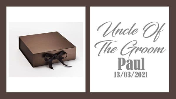 Uncle Of The Groom Large Luxury Personalised Gift Box