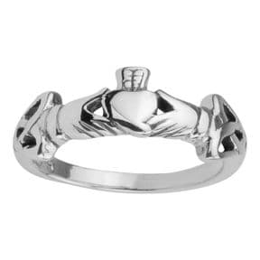 Celtic Claddagh Silver Ring 0343