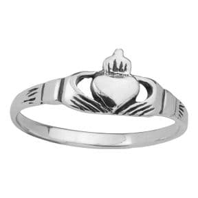 Celtic Claddagh Silver Ring 0344