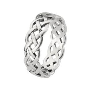 Celtic Knotwork Silver Plated Ring 9158