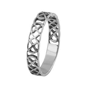 Celtic Knotwork Silver Plated Ring 9160