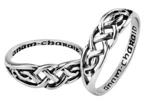 Celtic Silver Keeper Ring 9270