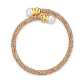 Celtic Stainless Steel Torque Bangle Gold 9959