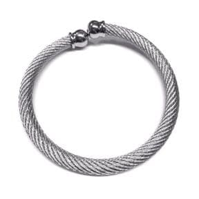 Celtic Stainless Steel Torque Bangle Large 9958