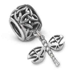 Outlander Inspired Dragonfly Silver Bead Charm 9966
