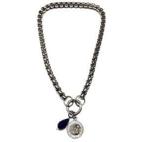 Outlander Inspired Stainless Steel Box Chain Necklace & Charm 9797