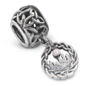 Outlander Inspired Standing Stones Silver Bead Charm 9967