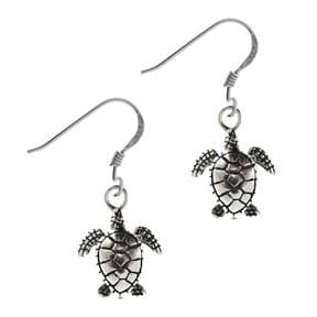 Outlander Inspired Sterling Silver Turtle Earrings 1910