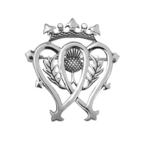 Scottish Luckenbooth Silver Plated Brooch 9180