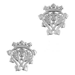Scottish Luckenbooth Silver Stud Earrings 0628