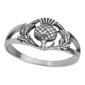 Scottish Thistle Silver Ring 0500