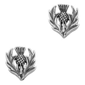 Scottish Thistle Silver Stud Earrings 0383