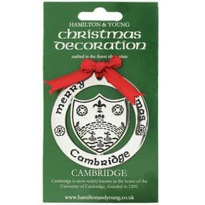 Silver Plated Christmas Decoration Cambridge 0967