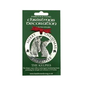 Silver Plated Christmas Decoration Kelpies 9712